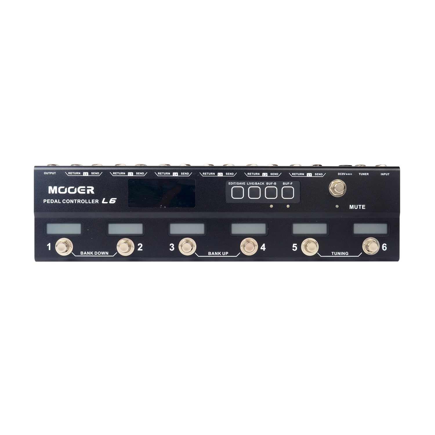 Mooer Pedal Controller L6 Programmable True Bypass 6 Channel Loop Switcher PCL 6 лопата truper pcl pe 31174