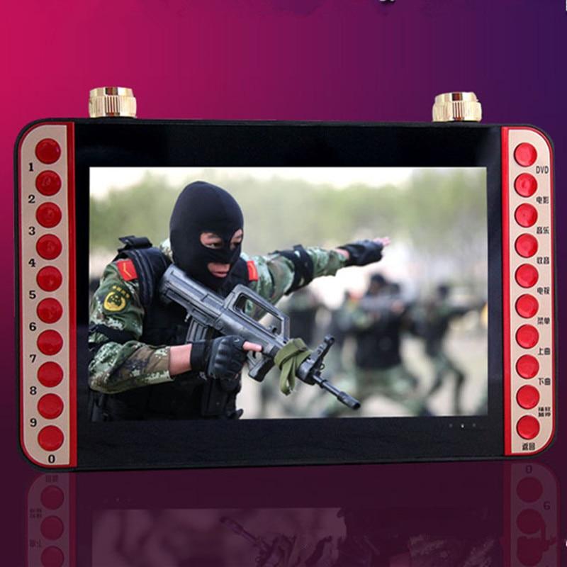 Здесь продается  11 inch portable EVD DVD player VCD CD MP3/4 SD USB Speaker FM video game machine microphone singing machine with TV Speaker  Бытовая электроника
