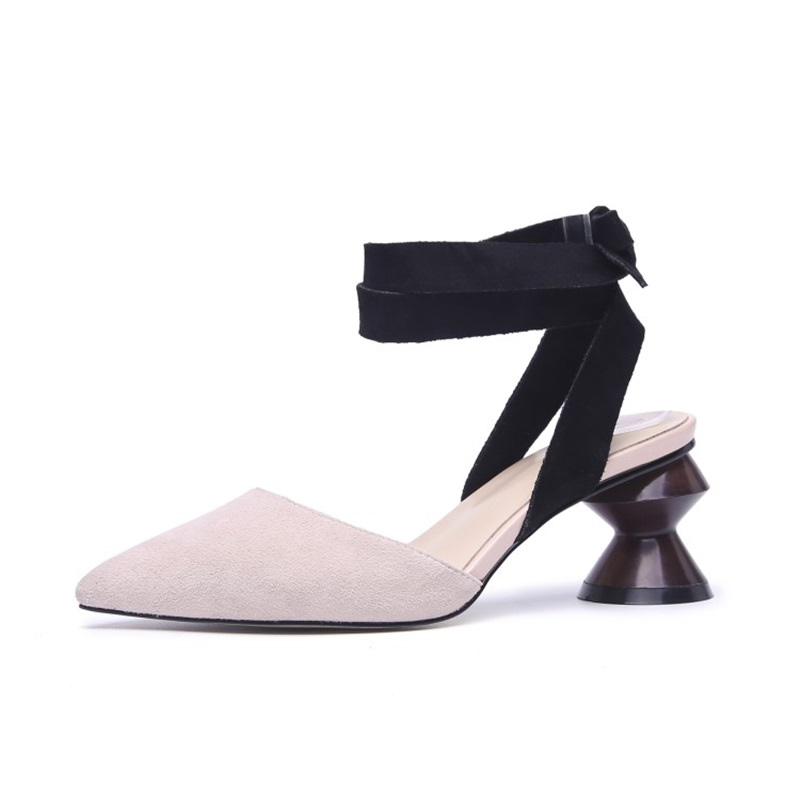 women strange heels pumps summer sexy lady pointed square heels 6 cm mixed color grace flock pumps sandals for party size 34-39women strange heels pumps summer sexy lady pointed square heels 6 cm mixed color grace flock pumps sandals for party size 34-39
