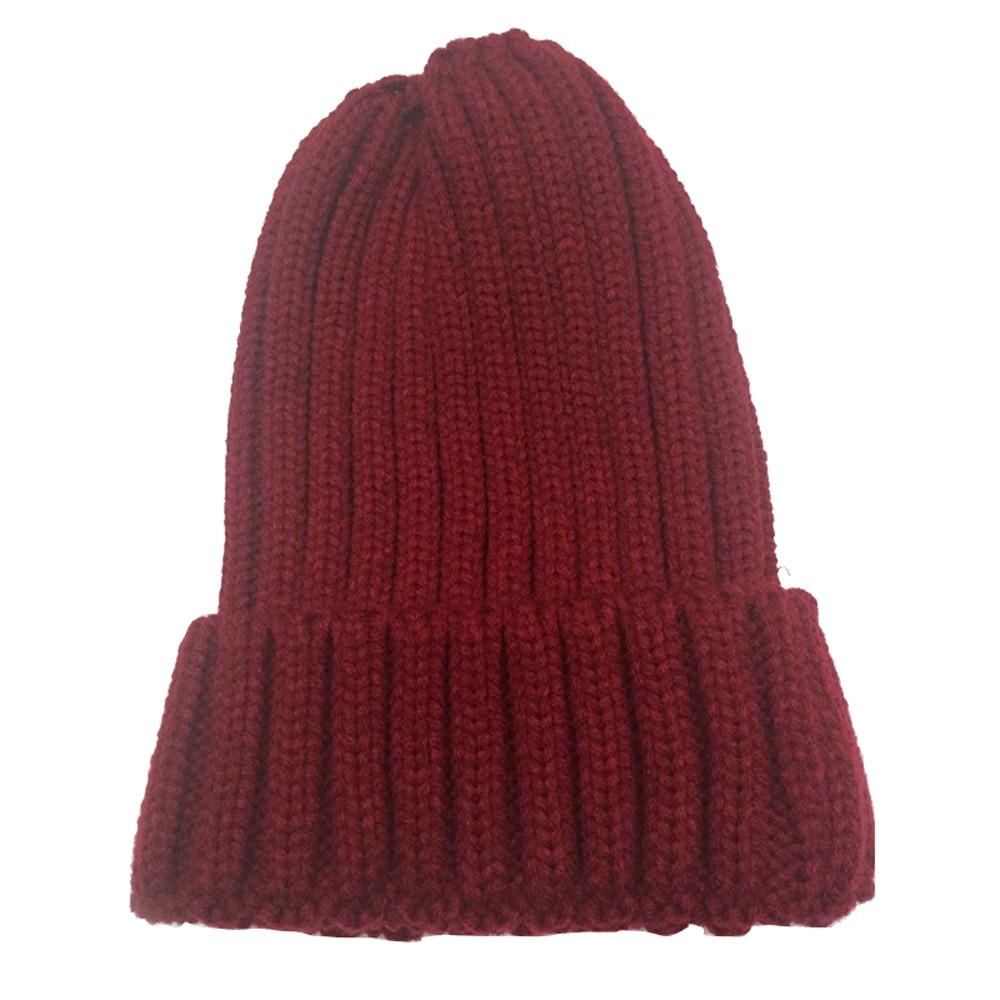 80ec22588a8 2019 Beautiful Cheap Women Men Crochet Wool Knit Beanie Beret Ski ...