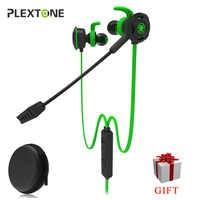 Plextone G30 PC casque de jeu avec Microphone dans l'oreille stéréo basse suppression du bruit écouteur avec micro pour téléphone ordinateur portable