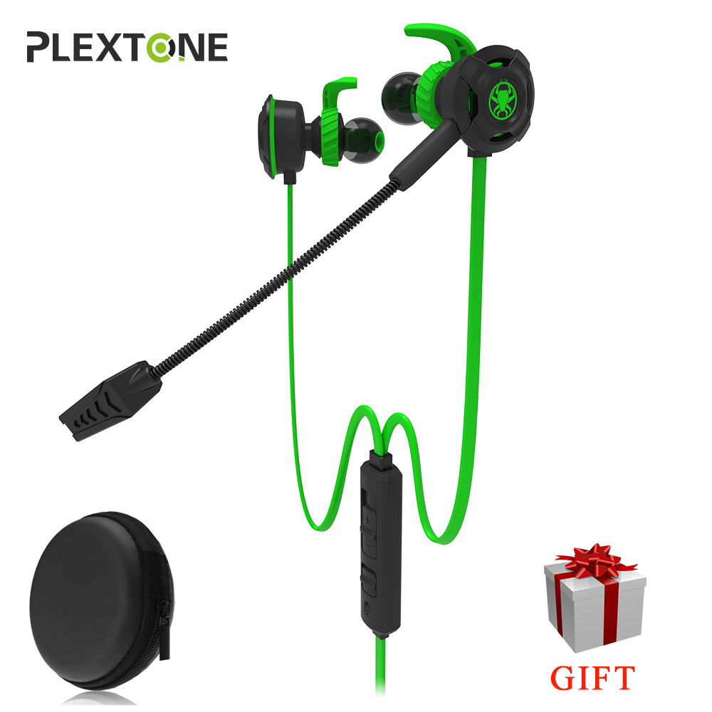 Plextone G30 PC Gaming Headset With Microphone In Ear Stereo Bass Noise Cancelling Earphone With Mic For Phone Computer Notebook