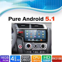 Pure Android 5.1.1 System Car DVD GPS Navigation System for Honda Fit 2015