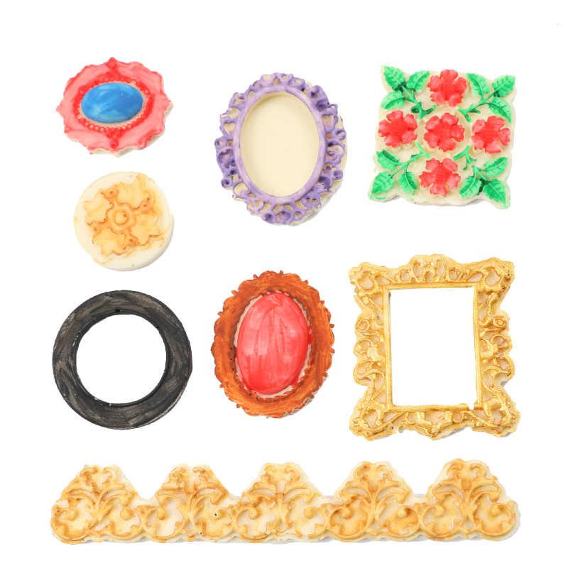 Curlicues прокрутки кружева фоторамка помадка силиконовые формы пирог с сахаром границы украшения для кексов полимерная форма для шоколада