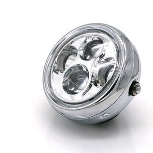 Image 3 - Faro LED para motocicleta hola y Lo faro bombilla DRL con Ángel anillo para Harley Sportster Cafe Racer Bobber