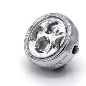 Image 3 - Motorcycle LED Headlight Hi&Lo HeadLamp Bulb DRL With Angel Ring for Harley Sportster Cafe Racer Bobber