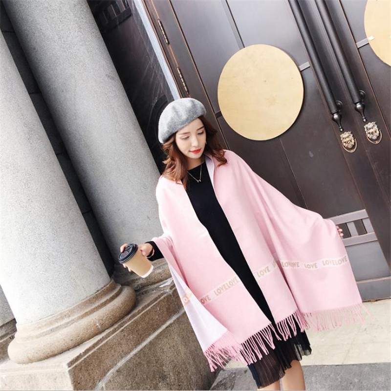 Women Pashmina Winter Spring   Scarves     Wrap   Shawl Thick Women's   Scarf   Solid Warm Cotton Cashmere Wool Blended Brushed Women   Scarf