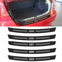 3D углеродное волокно 206 308 307 508 2008 3008 логотип заднего бампера Стикеры для peugeot автомобильные аксессуары для укладки волос