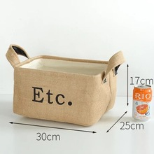 New Style Cotton and linen Cute Desk Decor Office Organizer Makeup Cosmetic Stationery Jewelry box storage holder file storage