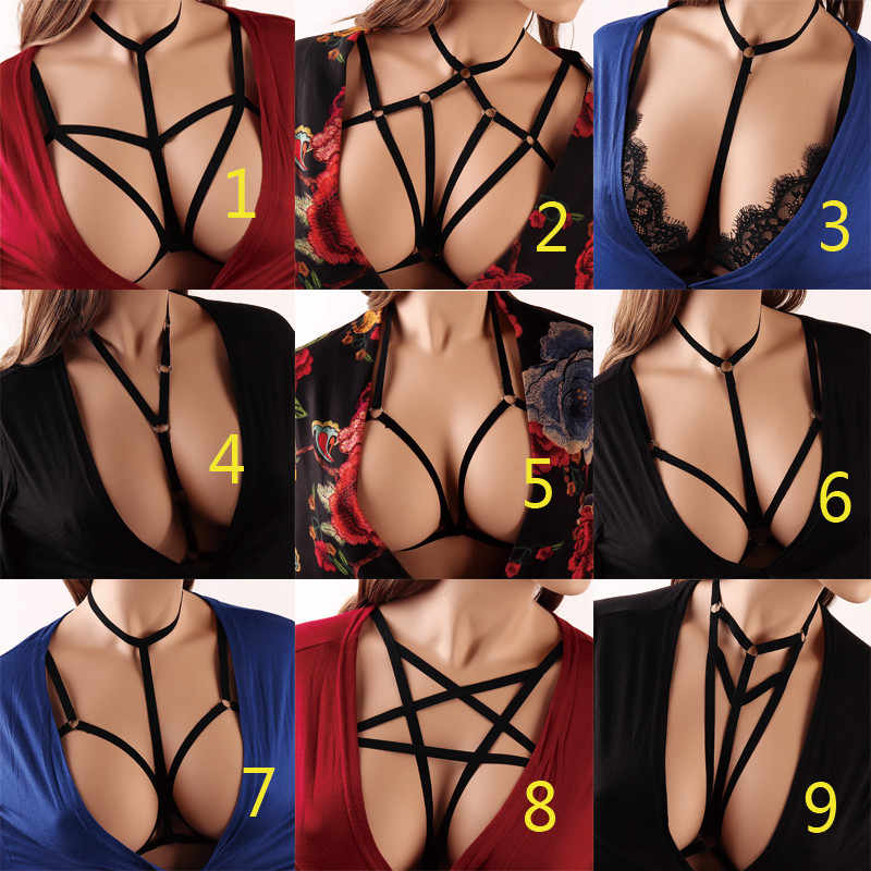 567feefe79a Body Harness Belt Sexy Fashion Harness Cage Bra Cupless Lingerie Women  Halloween Bondage Crop Top