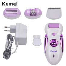 4 in 1 Electric Feet Care Tool Callus Remover Feet Pedicure Kit Rechargeable Lady Epilator Hair Removal Shaver Waterproof 3031