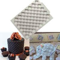 De silicona de grabado en relieve para fondant molde para azúcar decoración de borde de tarta molde