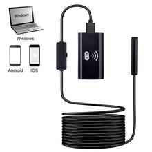 купить WIFI Endoscope Camera HD 720P Mini Waterproof Hard Cable Inspection Camera 8mm USB Endoscope Borescope IOS Endoscope For Iphone дешево