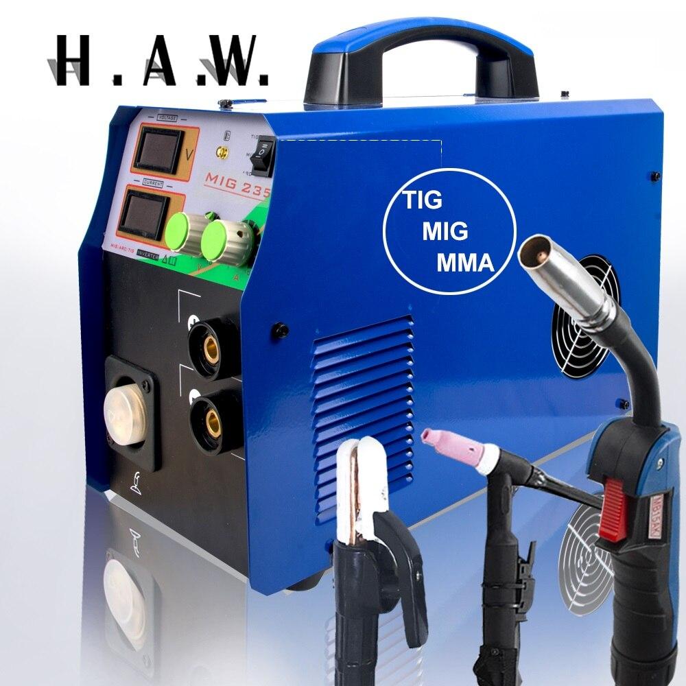 TIG/MMA/MIG Schweißer-MIG235 3in1 Combo Multi-Funktion Schweißen maschine 110/220V