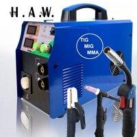TIG/MMA/MIG Welder MIG235 3in1 Combo Multi Function Welding machine 110/220V
