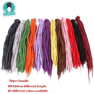 Image 3 - Luxury For Braiding 10strands 90cm 120cm long Nepal felted wool synthetic dreadlocks crochet braids hair for kids and adult