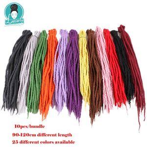 Image 3 - Tresses synthétiques en laine feutrée du népal à 10 brins, mèches de luxe, tresses au crochet, longueur 90 120cm pour enfants et adultes