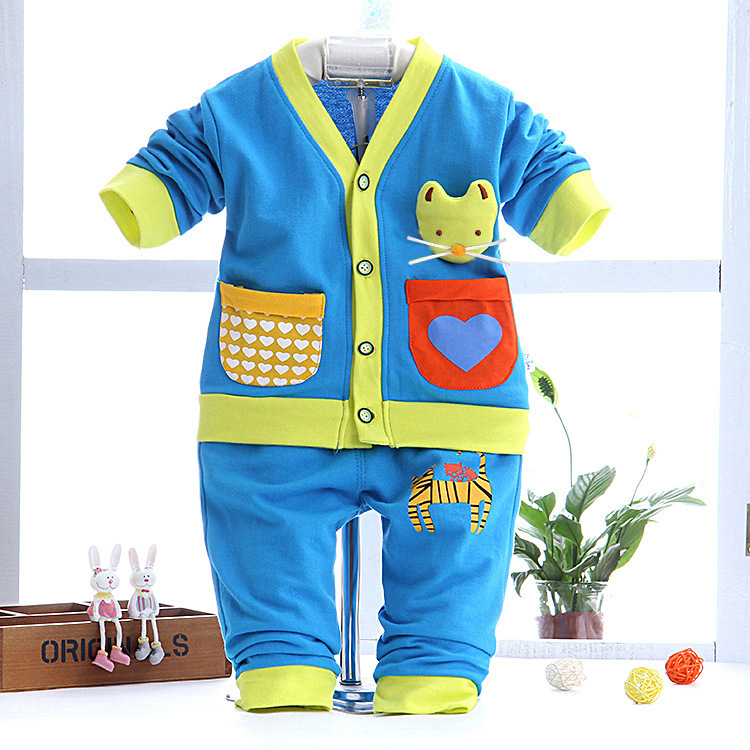 c4a18f5cb New Born Baby Clothes New Korean Baby Tracksuit Two Set Baby Boy ...