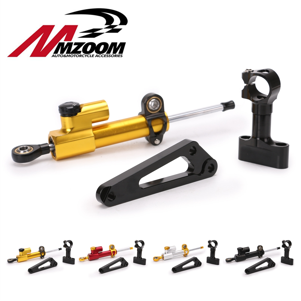 Aluminum Motorcycle Steering Stabilize Damper Bracket Mount Kit For HONDA CB600F CB 600F HORNET 2007-2016 08 09 Moto Accessories adjustable steering stabilize damper bracket mount kit for honda cbr1000 2008 2014 t6061 t6 aluminum a set cnc fxcnc gold
