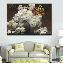 Beautiful Flowers Bonsai Wall Art Christmas Decorations for Home Vintage Artwork Oil Canvas Painting Living Room Custom