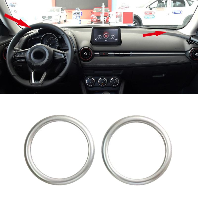 Fit for Mazda CX-3 CX3 2015 2016 2017 2018 ABS Matte Accessories Interior Car Dashboard Speaker Ring Cover Trim 2pcs for mazda cx 5 cx5 2nd gen 2017 2018 interior custom car styling waterproof full set trunk cargo liner mats tray protector