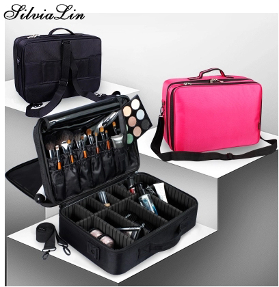 Women Fashion Cosmetic Bag Travel Makeup Organizer Professional Make Up Box Cosmetics Pouch Large Capacity Storage Bag Suitcases new arrival large make up organizer storage box cosmetic organizer suitcase women makeup box container travel cosmetic bag cases
