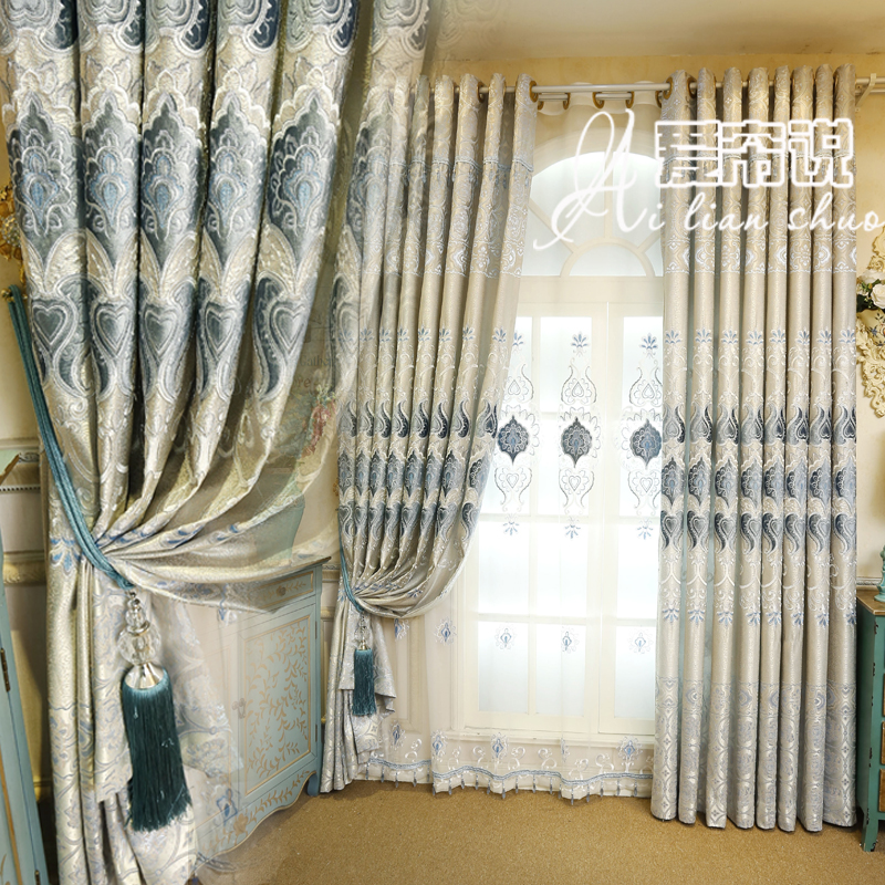 European style curtains for living sitting room curtain - European style curtains for living room ...
