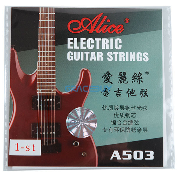 10 Pcs Alice Electric Guitarra String A503 A503SL .009 Inch .23 Mm 1 1st High E First String For Electric Guitar NEW
