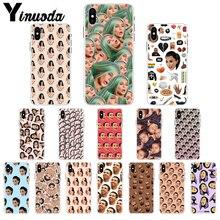 Yinuoda Kimoji Kim Kardashian kanye west north kylie jenner Customer Phone Case for iPhone 8 7 6 6S Plus X XS MAX 5 5S SE XR 10