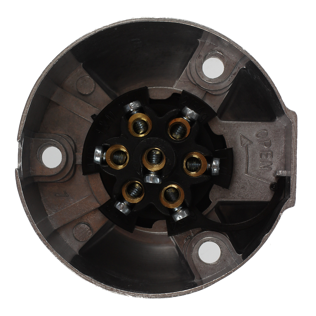 7 Pin Trailer Socket Heavy Duty Round Pole Wiring 12v Towbar Towing Caravan Truck Vehicle End N Type In Equalizers From Automobiles