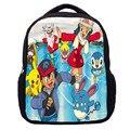 Que comenzará linda impresión de la historieta pokemon animación niños bolsos de escuela del estudiante mochila para niños niñas mochila libro bag298t