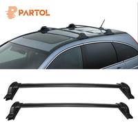Partol 2Pcs/Set Black Car Roof Rack Cross Bars Crossbars 60kg 132LBS Cargo Luggage Snowboard Carrier Top for Honda CRV 2007 2011
