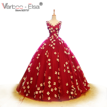 VARBOO_ELSA Bridal Gowns sleeveless Wedding Dress Ball Gown