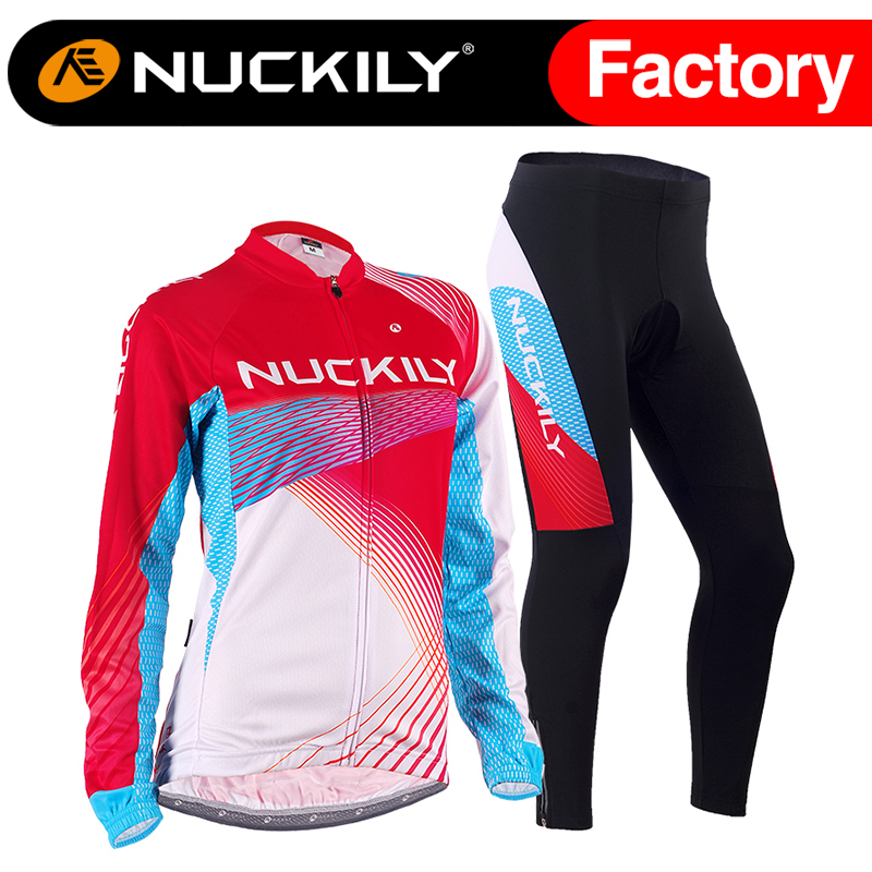 Nuckily Spring/Autumn women mountain bike cycling jersey long sleeved suit professional road bike sports apparel  GC004GD004 women s cycling shorts cycling mountain bike cycling equipment female spring autumn breathable wicking silicone skirt