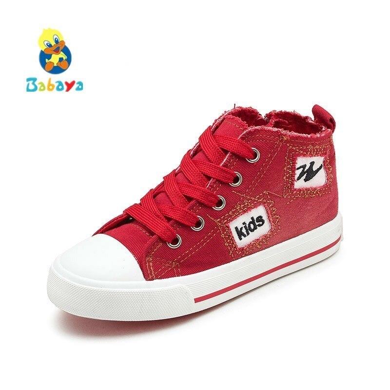 2018 Herbst Kinder Casual Schuhe Jungen Mädchen Sport Schuhe Atmungs Denim Turnschuhe Kinder Leinwand Schuhe Mode Stiefel