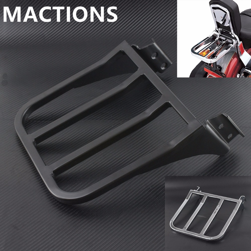 Motorcycle Sissy Bar Backrest Luggage Rack For Harley Sportster XL 04-17 Dyna 06-17 Softail 84-05 FLST FLSTC FLSTSC 06-17 dyna sissy bar rack