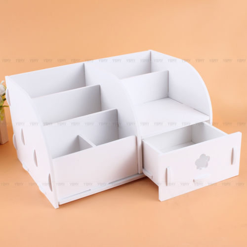 Home Desktop storage box Wood Storage Box for Cosmetics Jewelry Wooden Office Supplies Storage Desk Organizer