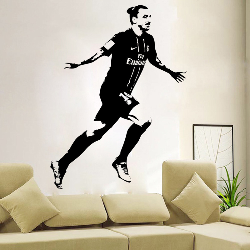 2015 DIY Funny Cool Zlatan Ibrahimovic Soccer Star Classic Celebrations  Wall Stickers Home Decoration Bedroom Parlor Decoration In Wall Stickers  From Home ...