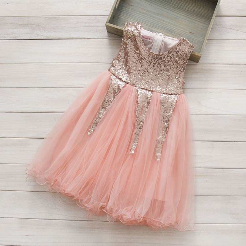 EMS DHL Free Shipping toddler's Little Girl's Sequin Casual kids dress Princess Party Dress tutu Dress 3 Colors 90-130 casio ef 341d 7a