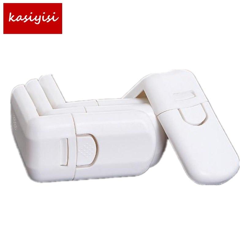 10pcs/lot  Children Safety Lock Cabinet  Toliet Lock Multi Function  Plastic Lock Baby Safety Prodcuct Drawer Lock