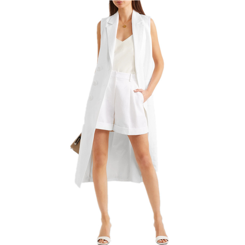 Long Européenne Blanc Manteau Star Taille Super Printemps Yf67gbyv