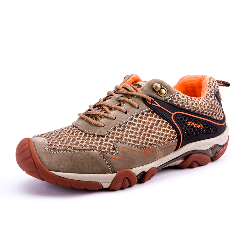 SevenDay Store 2017 Gray Brown Hunting Boots New Summer Outdoor Shoes Men Trekking Sneakers Mesh Men Hiking Boots Mountain Climbing Shoes