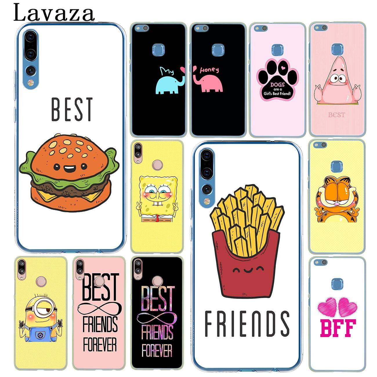 Lavaza Best Friends Girl Hard Phone Case for Huawei P30 P20 Pro P9 P10 Plus P8 Lite Mini 2016 2017 P smart Z 2019 Cover