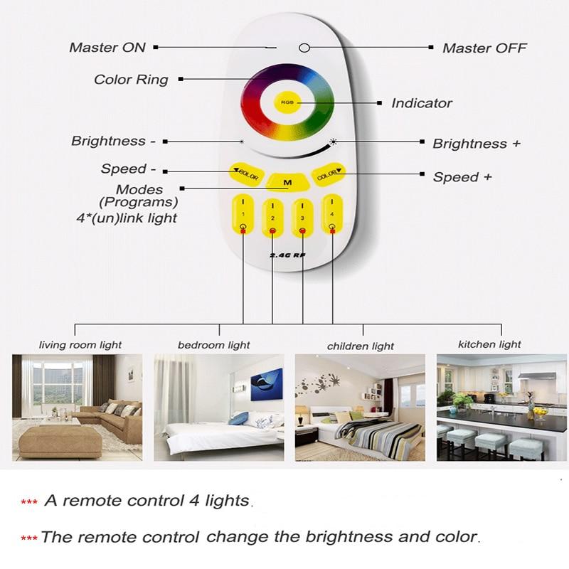 Современные светодио дный светодиодные потолочные светильники для гостиной квадратные люстры plafoniсветодио дный Era LED диммер RGB потолочные светильники спальня luminaria teto remote