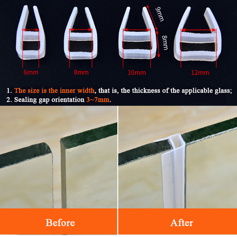 lowest price 5M Silicone Rubber Window Sealing F U h Corner Shape Door Weather Strip Draft Stopper For Shower Room Acoustic Panel 6 8 10 12mm