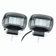 2pcs Autocycle headlamp led Auto auxiliary working lights 12v 2000lm 6500K Motorcycle head light 2000Lm Moto fog lamp(China)