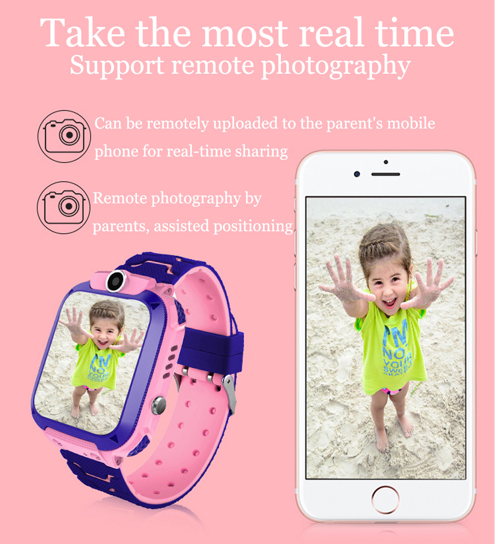 High Quality Newest Waterproof Tracker Smart Kids Child Watch Anti-lost SOS Call Smart Watch For iOS Android 16