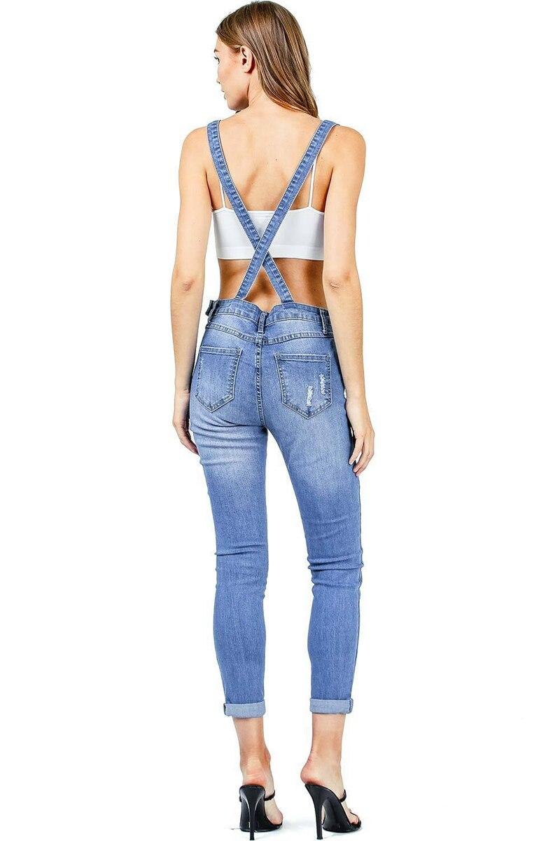 2018 New Arrival Sleeveless Jumpsuit Jeans Sexy Bodysuit Women Denim Overalls Rompers Girls Pants Jeans Ladies (6)