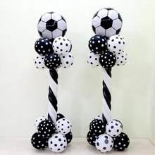Balão de futebol coluna tema de futebol festa de látex folha hélio ar ballon meninos jogos de aniversário brinquedos evento fontes de festa
