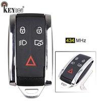 KEYECU 434MHz C2P17156 Smart 4 + 1 5 Taste Smart Remote Key Fob für Jaguar XF XFR XK XKR 2009 2010 2011 2012 2013-in Autoschlüssel aus Kraftfahrzeuge und Motorräder bei